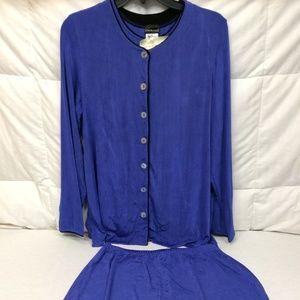 Woman M 3 Piece Skirt Set Citiknits Royal Blue